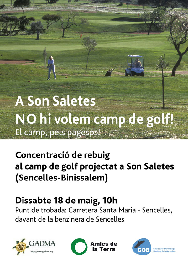 No camp de golf Son Saletes